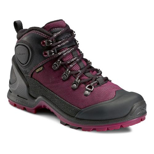 Womens Ecco USA Biom Terrain-AKKA Mid Lite GTX Hiking Shoe - Black/Fuchsia 36