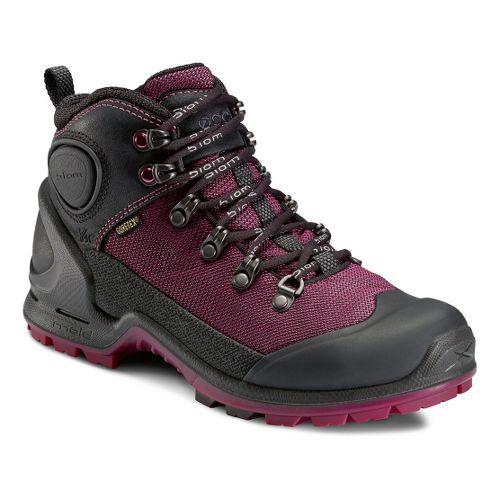 Womens Ecco USA Biom Terrain-AKKA Mid Lite GTX Hiking Shoe - Black/Fuchsia 41