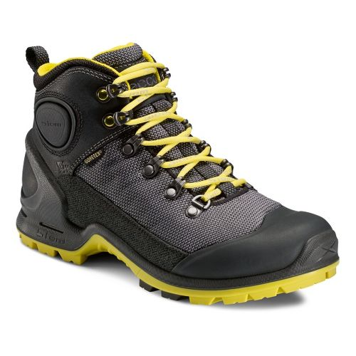Womens Ecco USA Biom Terrain-AKKA Mid Lite GTX Hiking Shoe - Black/Titanium 36