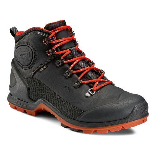 Mens Ecco USA Biom Terrain-AKKA Mid Plus GTX Hiking Shoe - Black/Fire 41