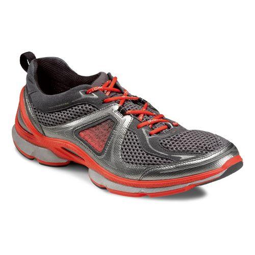 Mens Ecco USA Biom EVO Trainer Lite Running Shoe - Buffed Silver/Dark Shadow 47