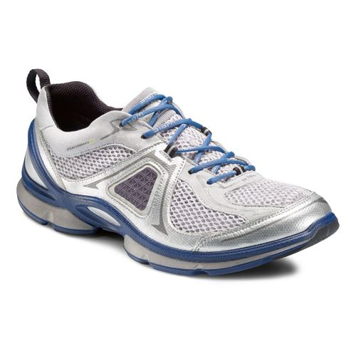 Mens Ecco USA Biom EVO Trainer Lite Running Shoe - Silver Metallic/Concrete 46