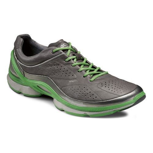Mens Ecco USA Biom EVO Trainer Plus Running Shoe - Buffed Silver/Dark Shadow 45