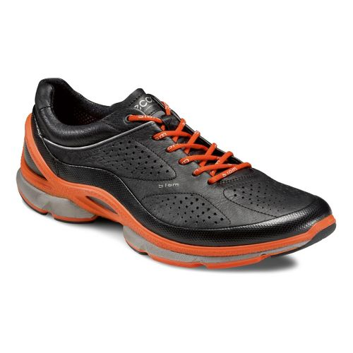 Mens Ecco USA Biom EVO Trainer Plus Running Shoe - Black/Fire 40