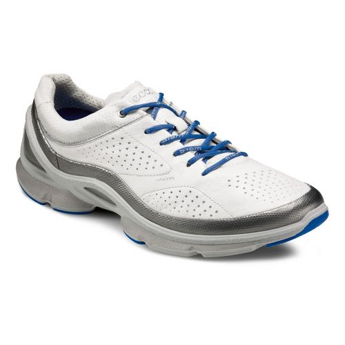 Mens Ecco USA Biom EVO Trainer Plus Running Shoe - Silver Metallic/White 46
