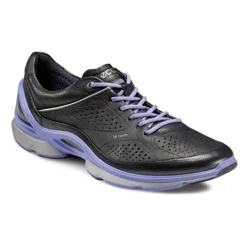Womens Ecco USA Biom EVO Trainer Plus Running Shoe - Black/Baja Blue 40