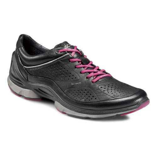 Womens Ecco USA Biom EVO Trainer Plus Running Shoe - Black/Black 41