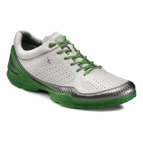 Mens Ecco USA Biom EVO Racer Plus Running Shoe - Buffed Silver/White 42