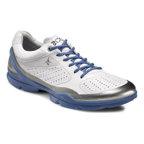 Mens Ecco USA Biom EVO Racer Plus Running Shoe - Silver Metallic/White 46