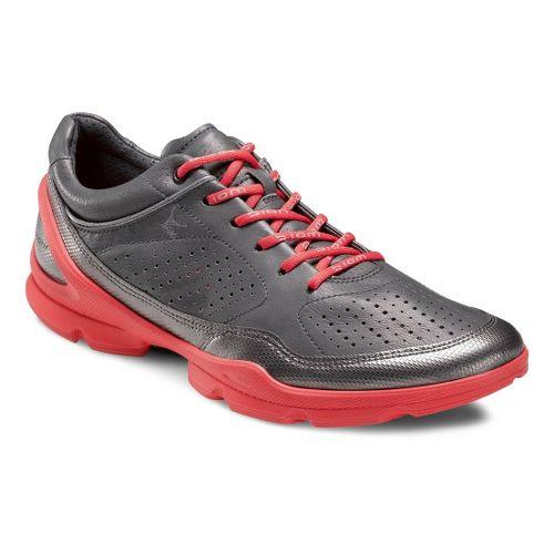 Womens Ecco USA Biom EVO Racer Plus Running Shoe - Buffed Silver/Dark Shadow 40