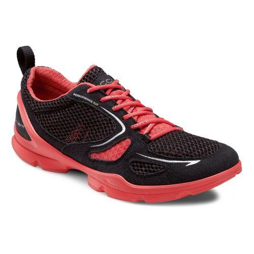 Womens Ecco USA Biom EVO Racer Lite Running Shoe - Black/Poppy 39