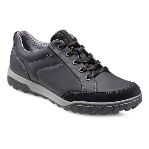 Mens Ecco USA Urban Lifestyle-Vermont Casual Shoe - Black/Black 41