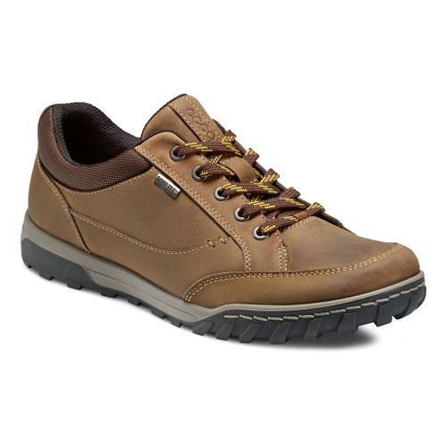 Mens Ecco USA Urban Lifestyle-Goran GTX Casual Shoe - Camel/Cocoa Brown 45