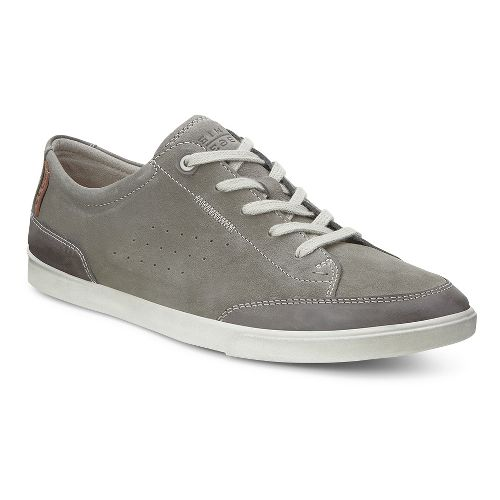 Mens Ecco USA Collin Tie Casual Shoe - Licorice/Warm Grey 45