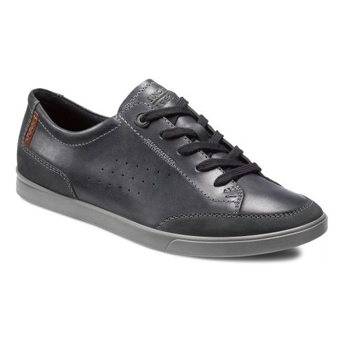 Mens Ecco USA Collin Tie Casual Shoe - Black/Black 41