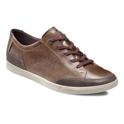 Mens Ecco USA Collin Tie Casual Shoe - Coffee/Brown 39