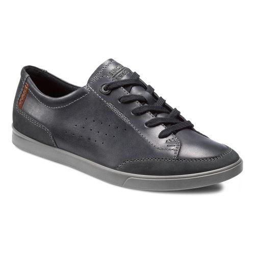Mens Ecco USA Collin Tie Casual Shoe - Licorice/Warm Grey 39