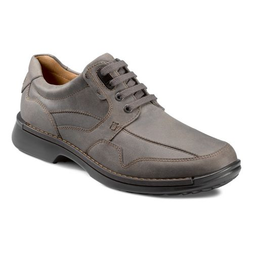 Mens Ecco USA Fusion Casual Tie Casual Shoe - Moon rock 41