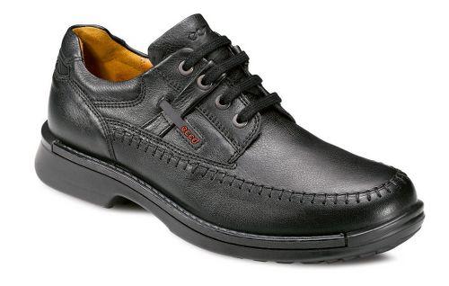 Mens Ecco USA Fusion Moc Toe Tie Casual Shoe - Black 41