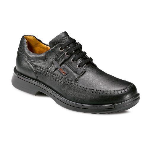 Mens Ecco USA Fusion Moc Toe Tie Casual Shoe - Black 39