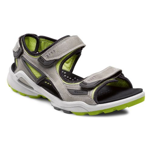 Mens Ecco USA Biom Terrain Sandals Shoe - Wild Dove/Lime Punch 44