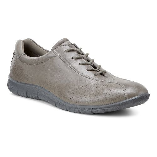 Womens Ecco Babett Tie Casual Shoe - Warm Grey 42