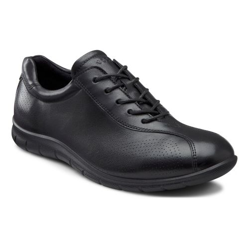 Womens Ecco USA Babett Tie Casual Shoe - Black 38