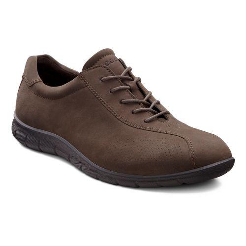 Womens Ecco USA Babett Tie Casual Shoe - Dark Clay 39