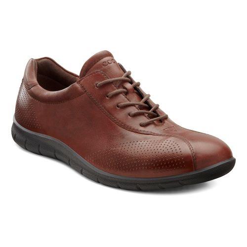 Womens Ecco Babett Tie Casual Shoe - Mahogany 42