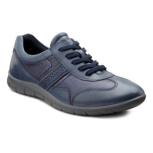 Womens Ecco USA Babett Premium Tie Casual Shoe - Midnight/Marine 35