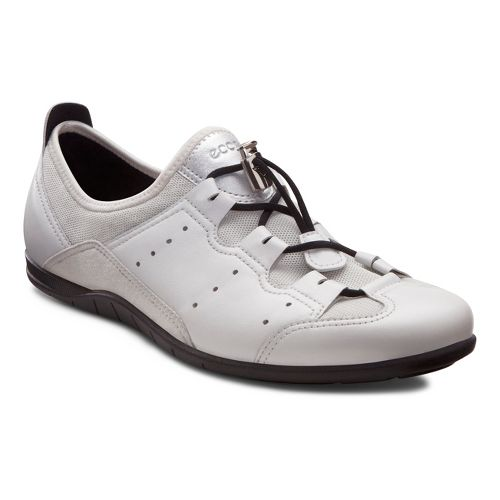 Womens Ecco USA Bluma Toggle Casual Shoe - White/Shadow White 35