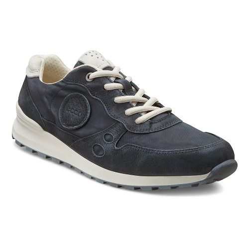 Womens Ecco USA CS14 Retro Sneaker Casual Shoe - Black/Shadow White 36