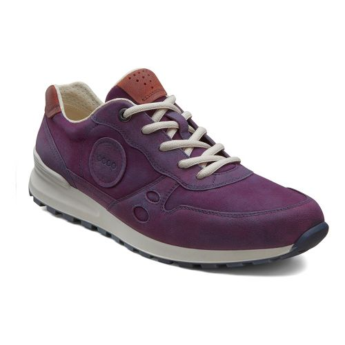 Womens Ecco USA CS14 Retro Sneaker Casual Shoe - Burgundy/Picante 38
