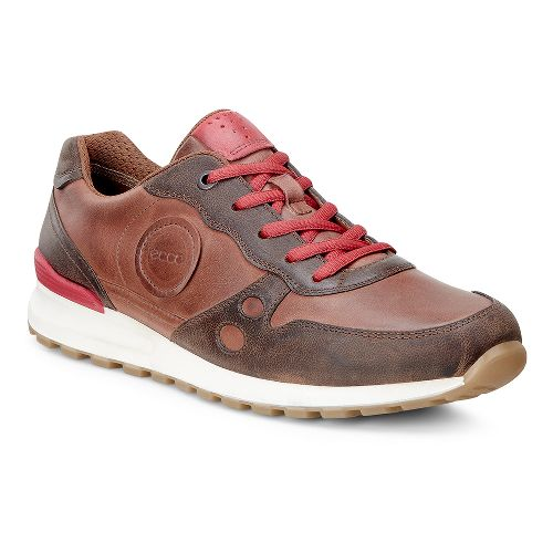 Womens Ecco CS14 Casual Sneaker Casual Shoe - Cocoa/Tomato 41