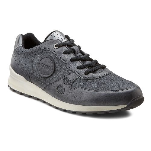 Womens Ecco USA CS14 Casual Sneaker Casual Shoe - Black/Buffed Silver 40