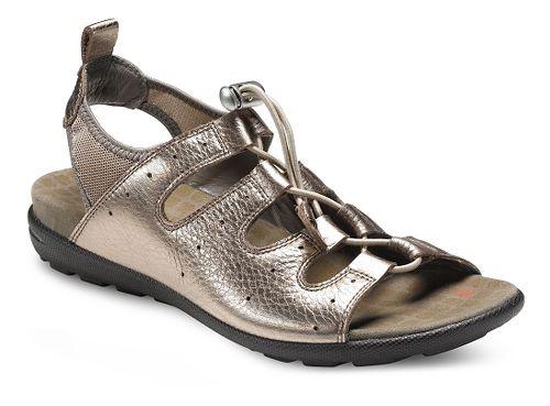 Womens Ecco Jab Toggle Sandals Shoe - Warm Grey Metallic 37