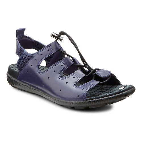 Womens Ecco USA Jab Toggle Sandals Shoe - Midnight/Marine 38