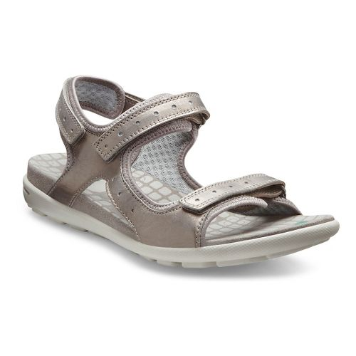 Womens Ecco USA Jab Strap Sandals Shoe - Moon Rock/Concrete 40