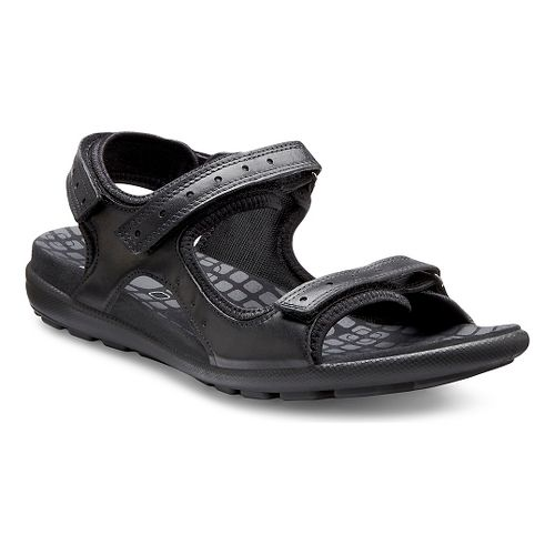 Womens Ecco USA Jab Strap Sandals Shoe - Black/Black 42