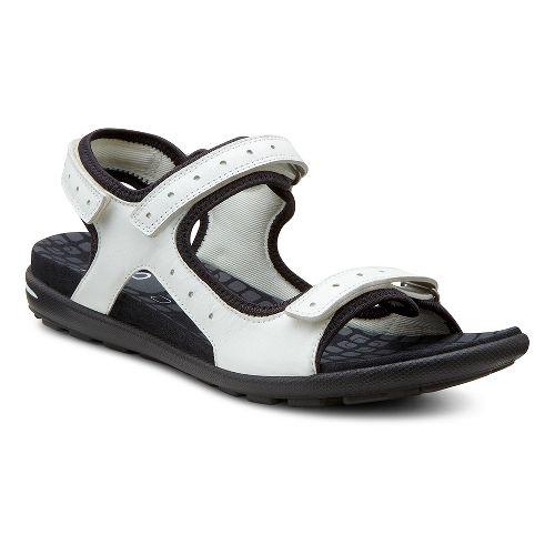 Womens Ecco USA Jab Strap Sandal Sandals Shoe - White/Black 39