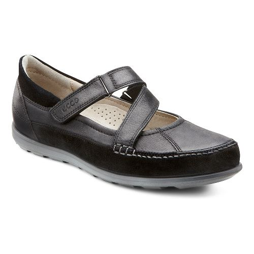 Womens Ecco Cayla Mary Jane Casual Shoe - Black/Black 38