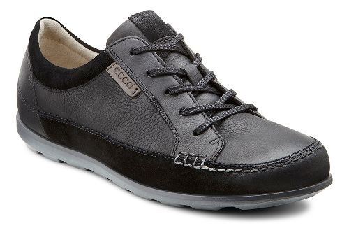 Womens Ecco Cayla Tie Casual Shoe - Black/Black 35