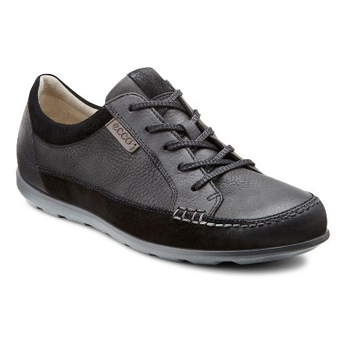 Womens Ecco Cayla Tie Casual Shoe - Black/Black 35