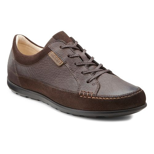 Womens Ecco Cayla Tie Casual Shoe - Mocha/Coffee 40