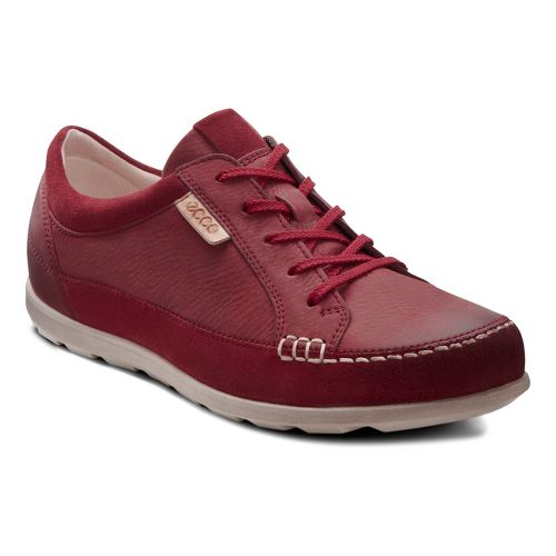 Womens Ecco Cayla Tie Casual Shoe - Port/Port 38