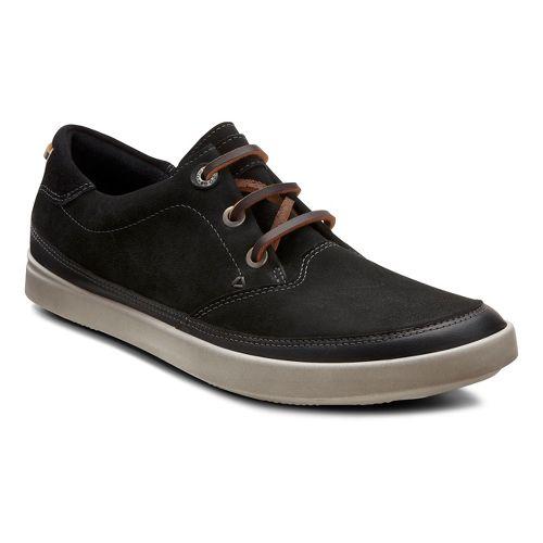Womens Ecco USA Aimee Nautical Sneaker Casual Shoe - Black/Black 42