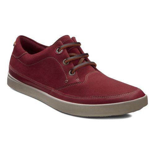 Womens Ecco USA Aimee Nautical Sneaker Casual Shoe - Port/Port 41