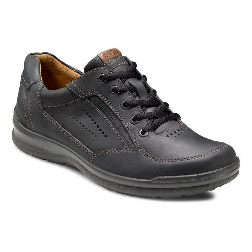 Mens Ecco USA Remote Lace Casual Shoe - Black/Walnut 50