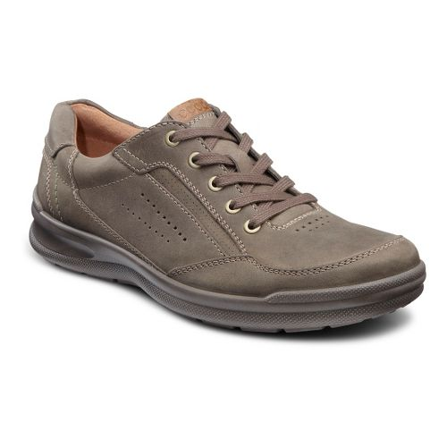 Mens Ecco USA Remote Lace Casual Shoe - Warm Grey/Walnut 41
