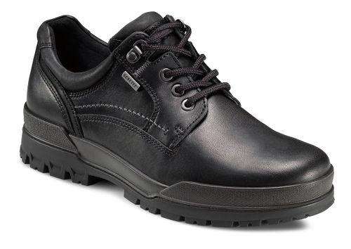 Mens Ecco USA Track 6 GTX Plain Toe Lo Casual Shoe - Black/Black 43